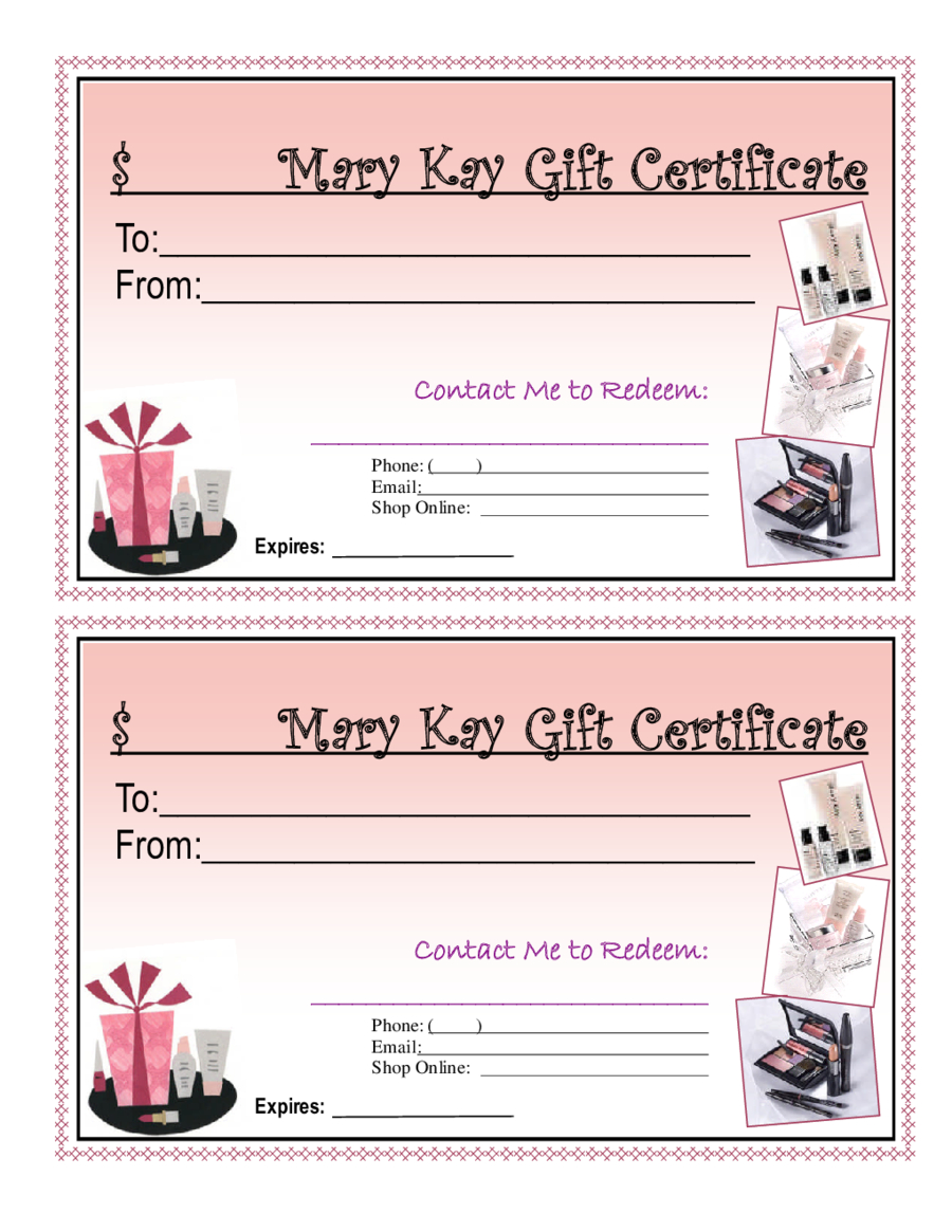 Blank Giftcertificates - Edit, Fill, Sign Online | Handypdf Inside Mary Kay Gift Certificate Template