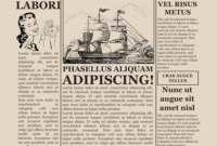 Blank Old Newspaper Template in Newspaper Template For Powerpoint
