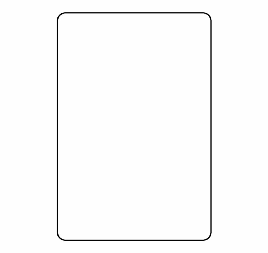 Blank Playing Card Template Parallel - Clip Art Library Inside Blank Playing Card Template