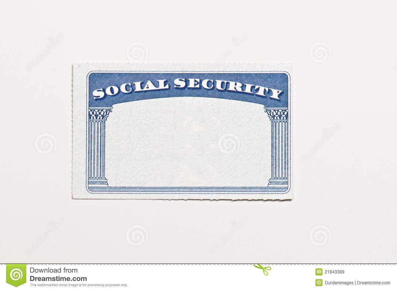 Blank Social Security Card Stock Image. Image Of Document With Ss Card Template