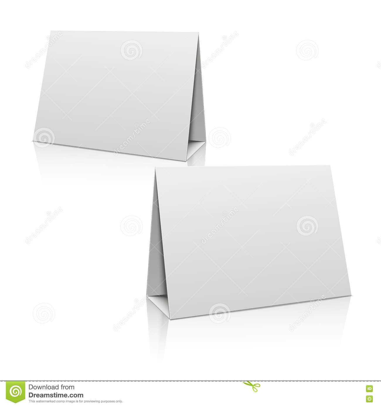 Blank White Paper Stand Table Holder Card. 3D Vector Design Regarding Card Stand Template