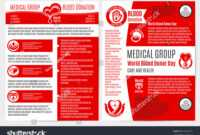 Blood Donation Medical Brochure Poster Template Stock Vector with regard to Hiv Aids Brochure Templates