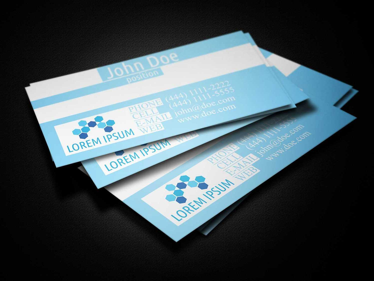 Blue Medical Business Card Template - Business Cards Lab With Regard To Medical Business Cards Templates Free