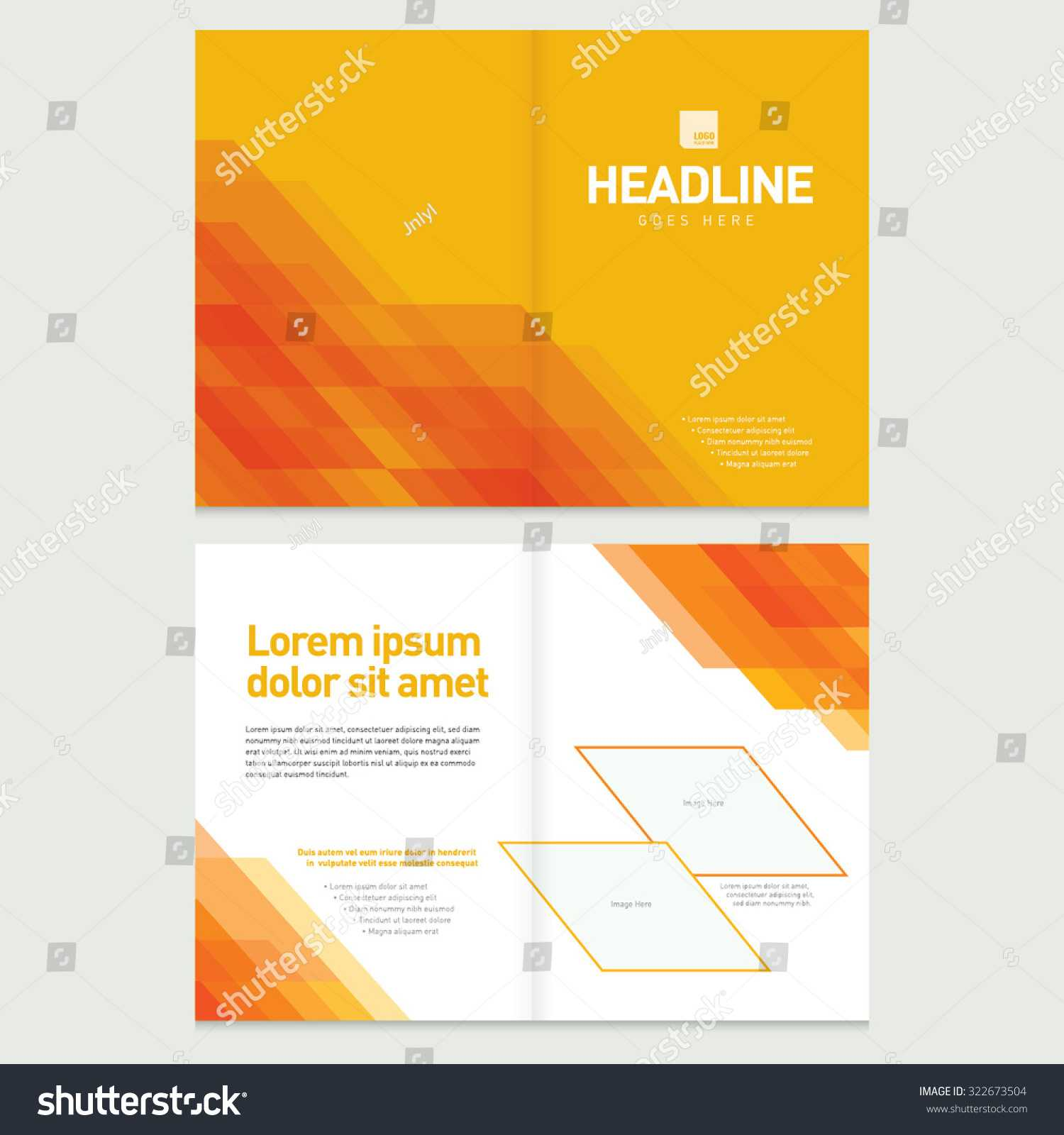 Brochure Cover Inner Pages Design Template Stock Vector Regarding Pages Business Card Template