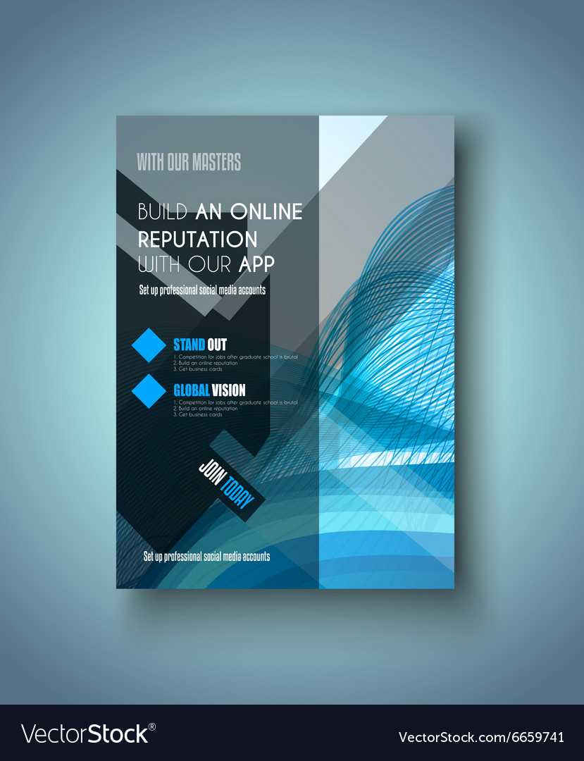 Brochure Template Flyer Design Or Depliant Cover With Social Media Brochure Template
