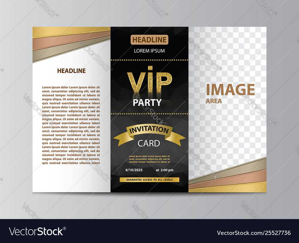 Brochure Template For Vip Party Inside Free Illustrator Brochure Templates Download