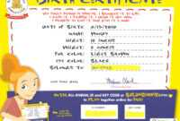 Build A Bear Birth Certificate Template ] – 1 Mom Just with Toy Adoption Certificate Template