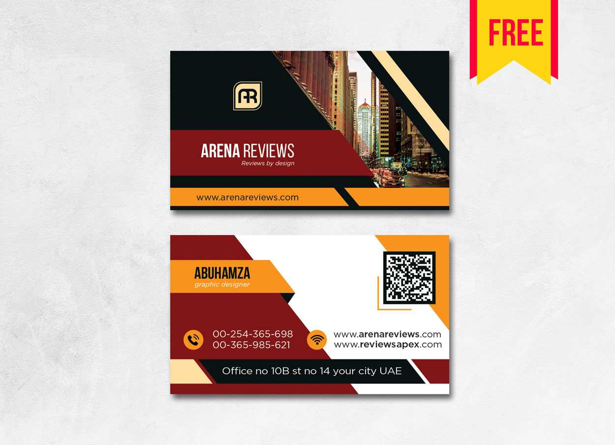 Building Business Card Design Psd - Free Download | Arenareviews In Download Visiting Card Templates