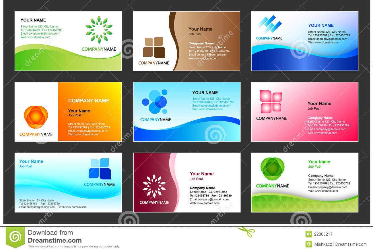 Business Card Template Design Stock Vector - Illustration Of With Regard To Calling Card Free Template