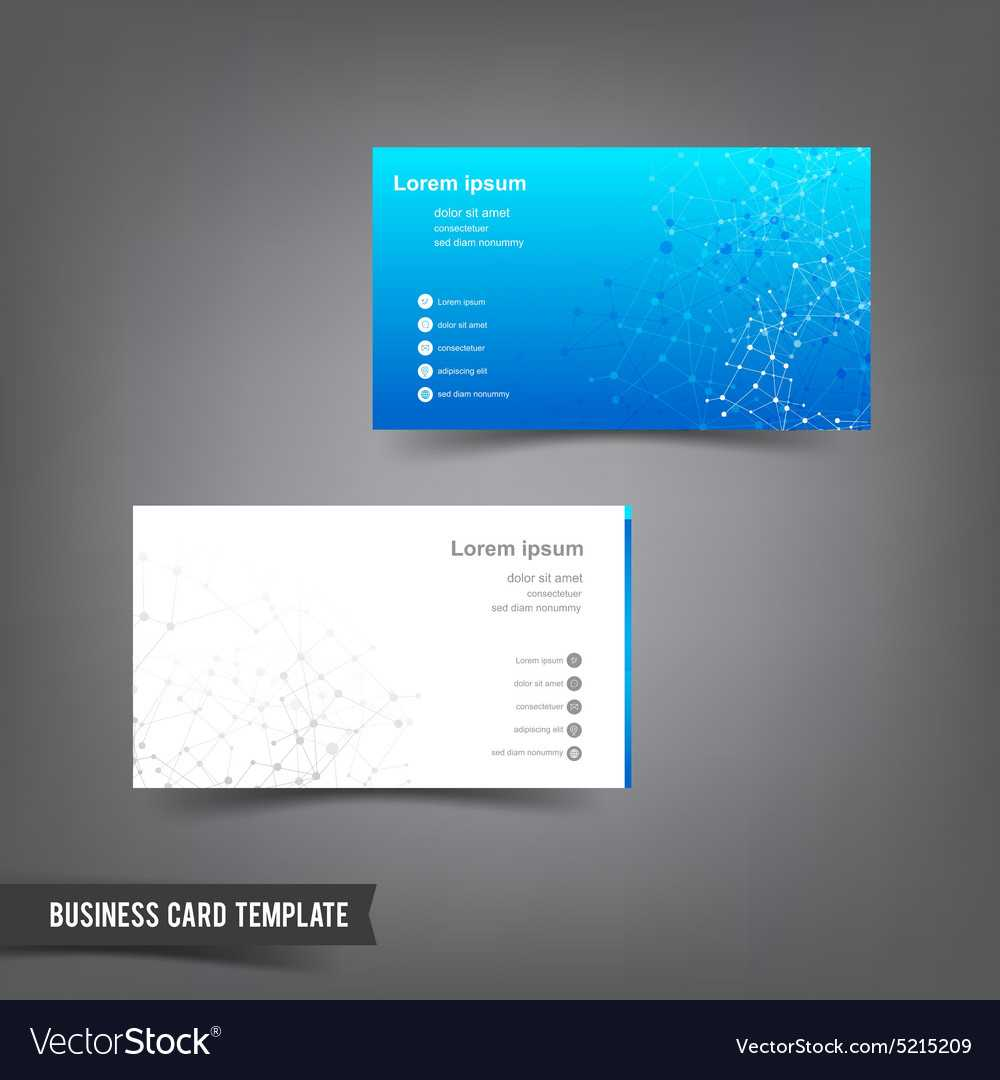 Business Card Template Set 025 Connection Network With Regard To Networking Card Template