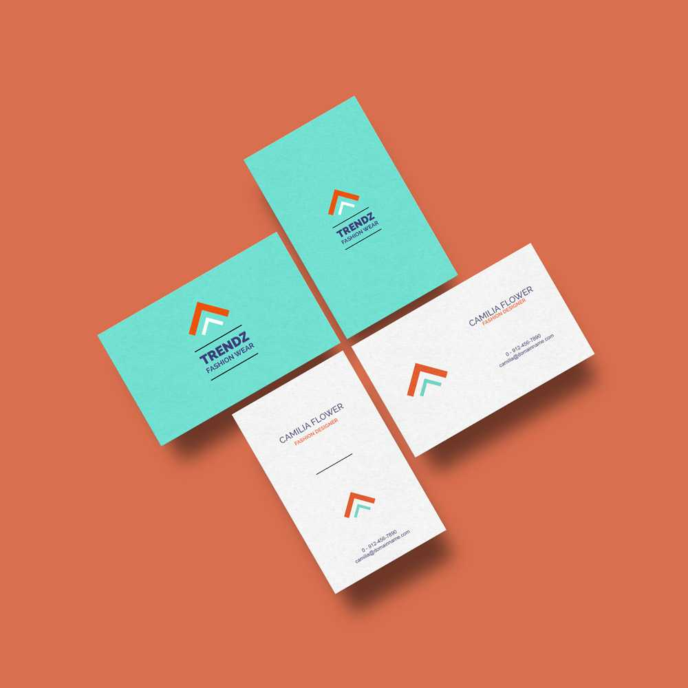 Business Cards Mockup Free Template Regarding Business Card Template Powerpoint Free