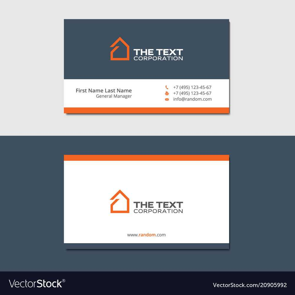 Business Cards Template For Real Estate Agency Pertaining To Real Estate Agent Business Card Template