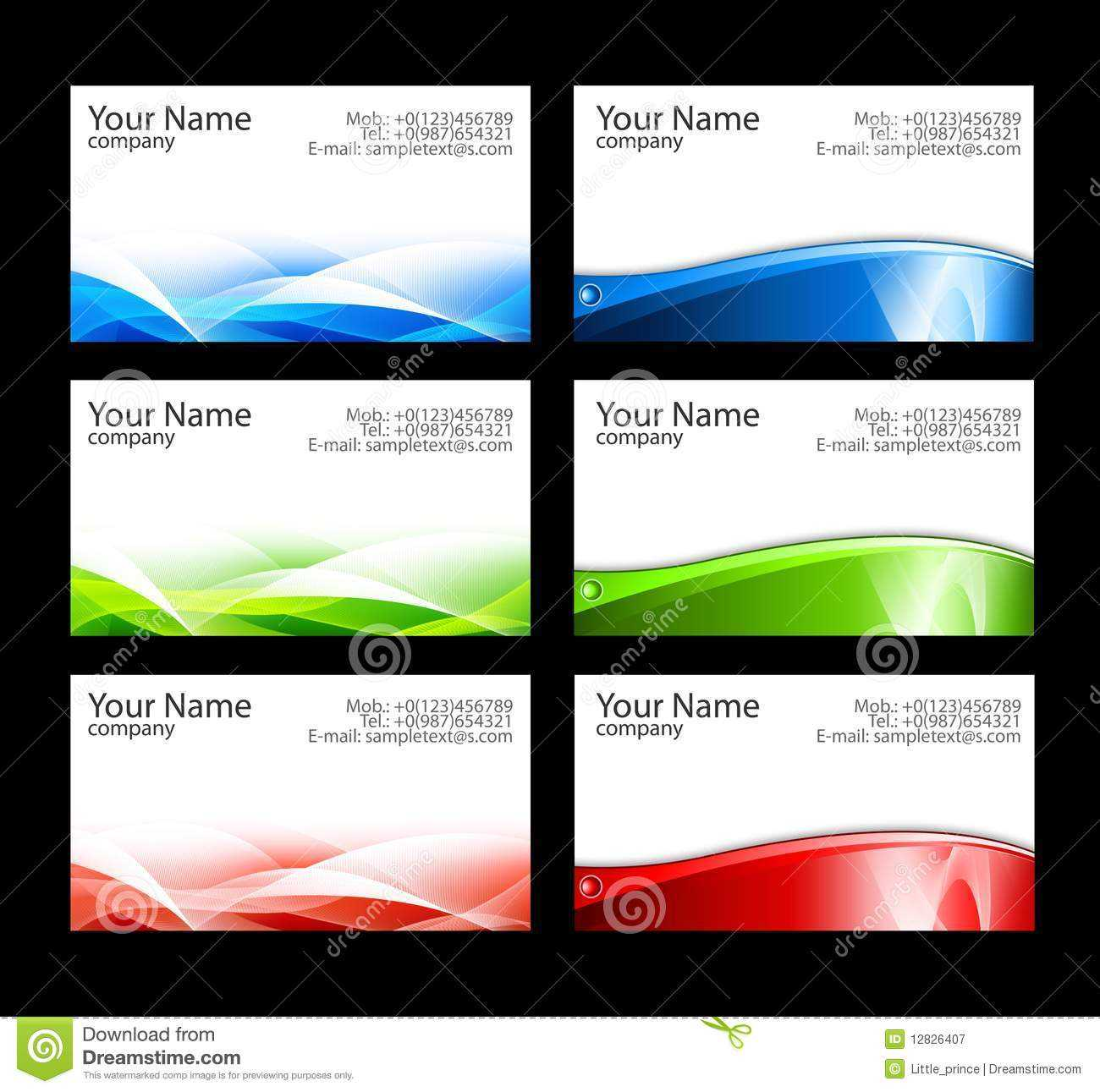 Business Cards Templates Stock Illustration. Illustration Of For Free Template Business Cards To Print