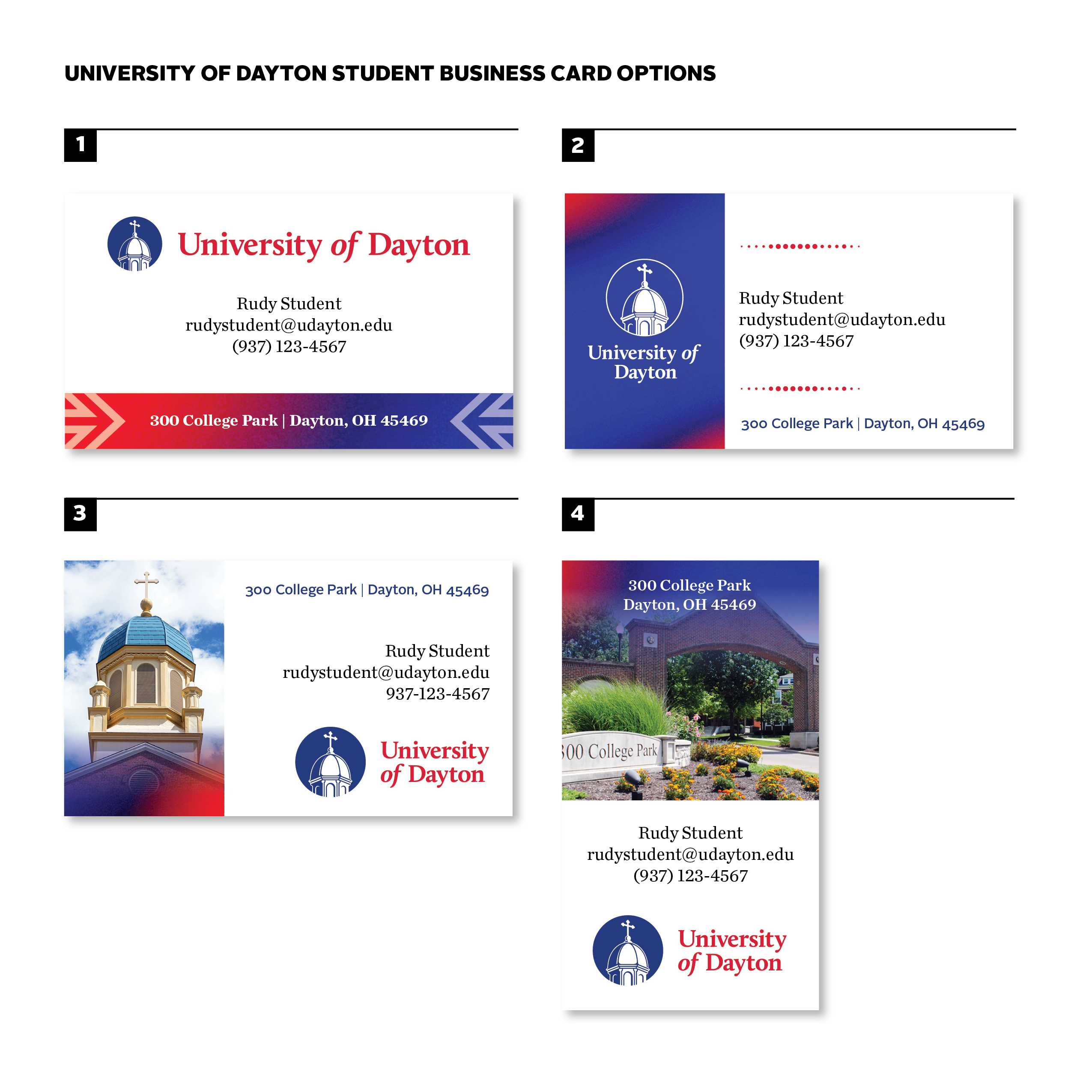 Business Cards : University Of Dayton, Ohio With Graduate Student Business Cards Template