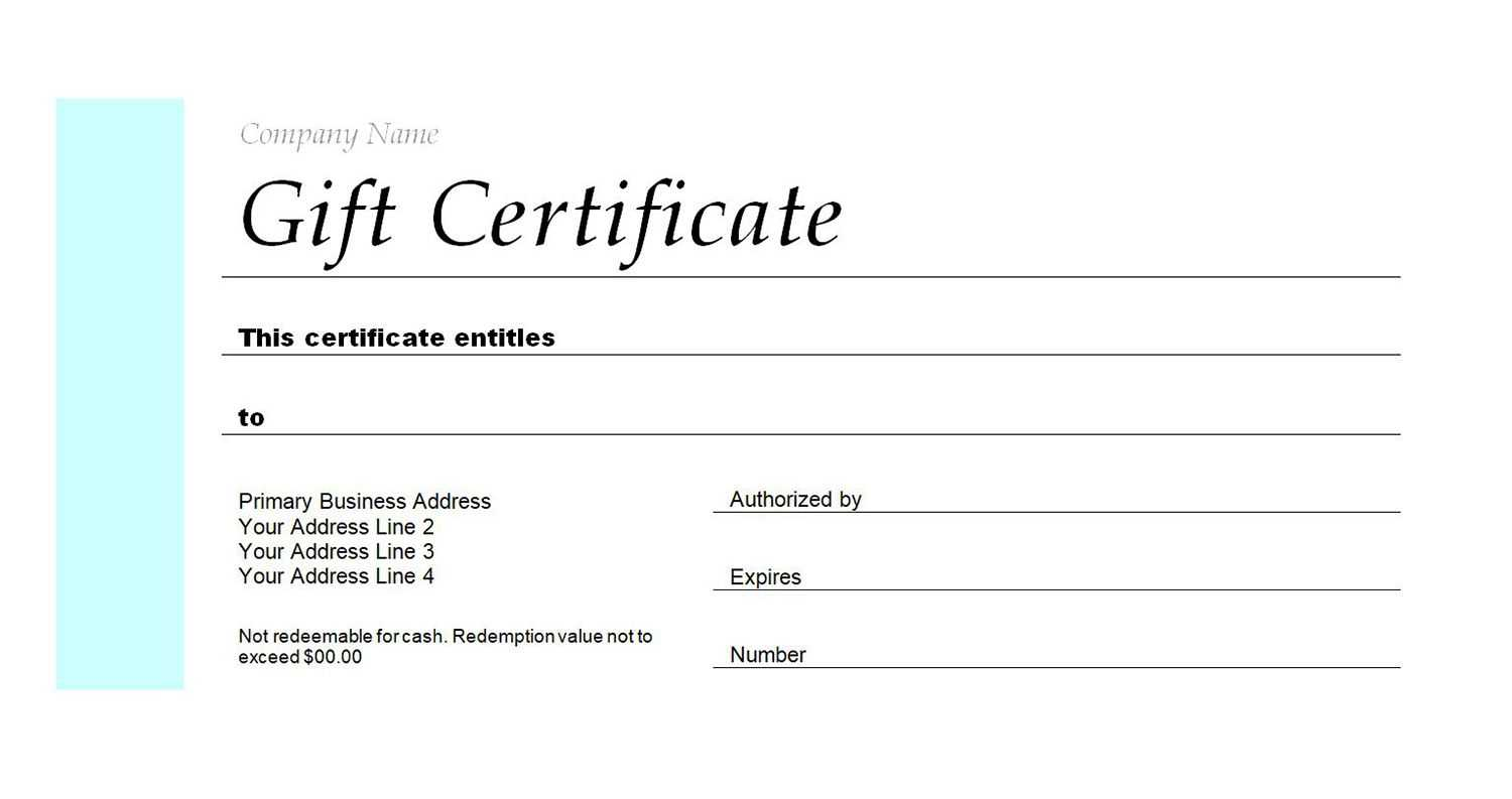 Business Gift Voucher Template | Certificatetemplategift Pertaining To Company Gift Certificate Template