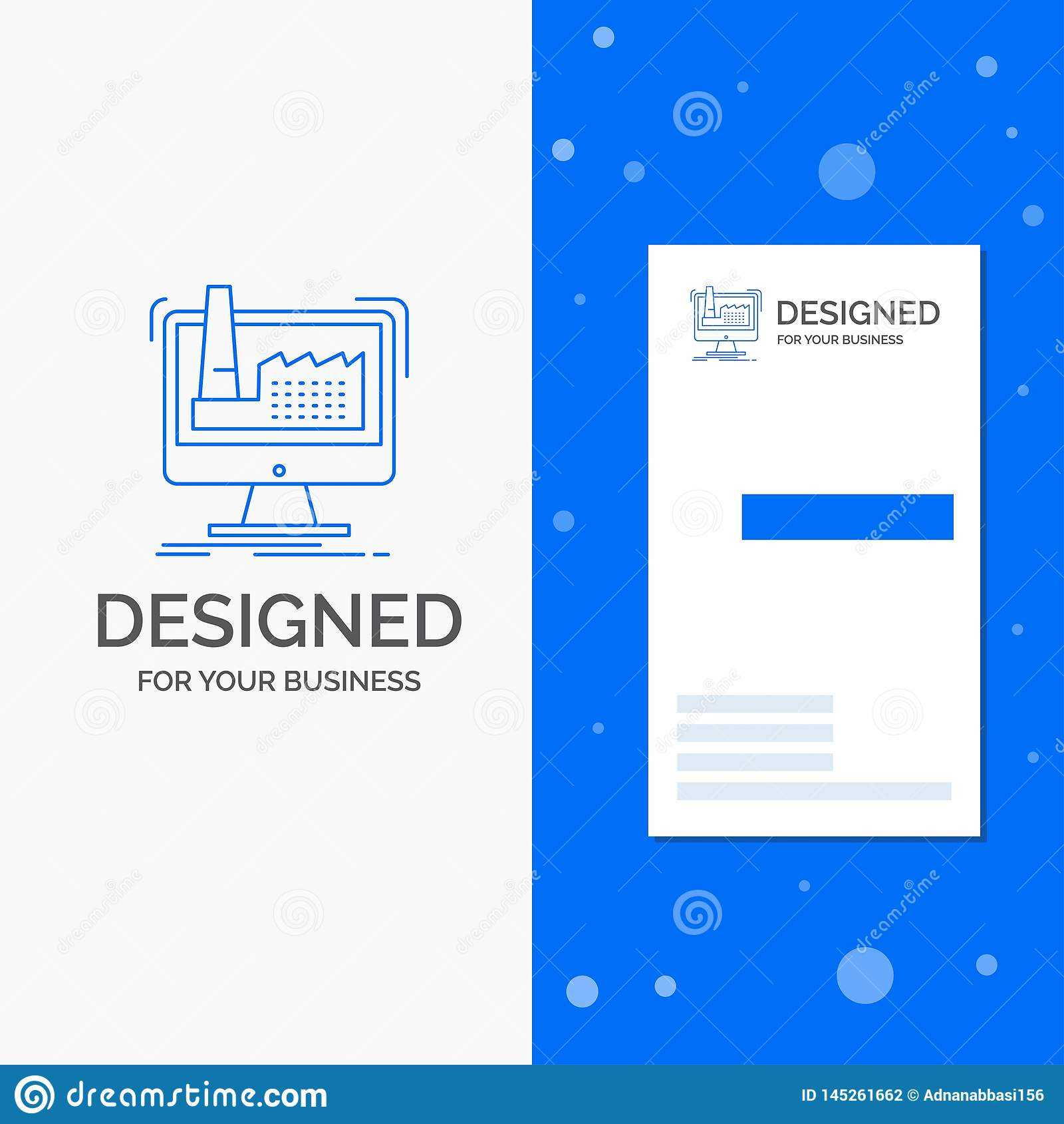 Business Logo For Digital, Factory, Manufacturing With Regard To Product Line Card Template Word