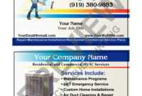 Business Plans Air Duct Cleaning Plan Hvac Card Services for Hvac Business Card Template