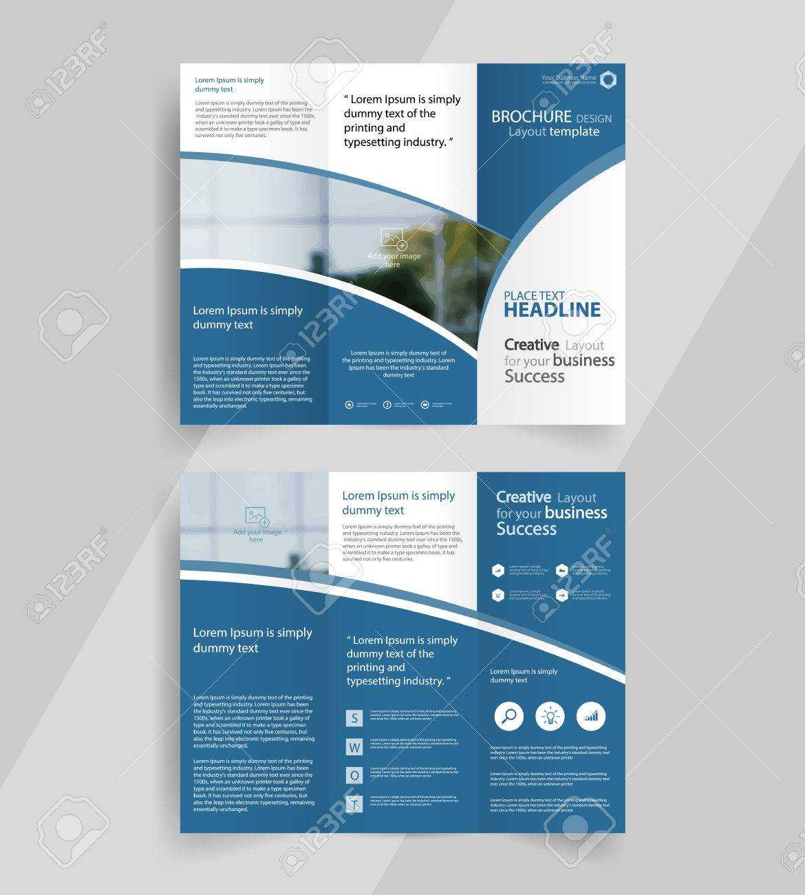 Business Tri Fold Brochure Layout Design ,vector A4 Brochure.. Throughout Tri Fold Brochure Template Illustrator