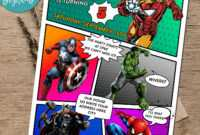 Calling All Avengers Comic Birthday Party Invitation Printable throughout Avengers Birthday Card Template