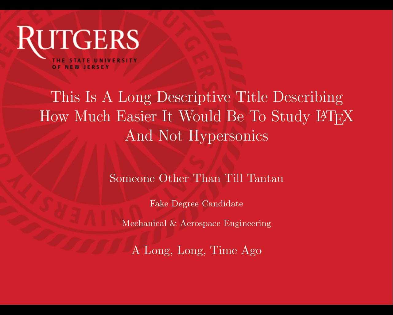 Can I Specify Title Page Customization In A Template Instead Throughout Rutgers Powerpoint Template