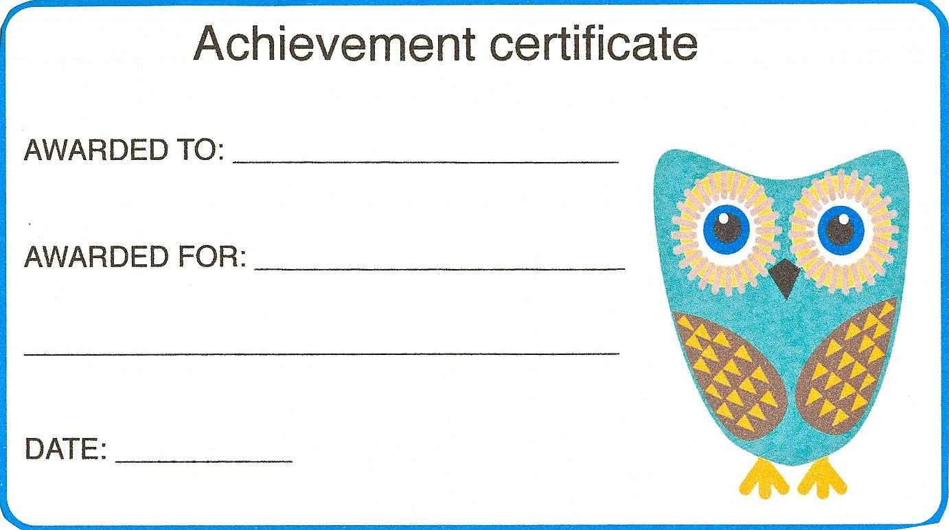 Certificate For Kid Template – Certificate Templates With Regard To Certificate Of Achievement Template For Kids