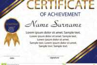 Certificate Of Achievement Or Diploma. Elegant Light with regard to Certificate Of Attainment Template