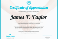 Certificate Of Appreciation With Volunteer Certificate Templates