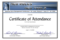 Certificate Of Attendance Conference Template ] - Of regarding Certificate Of Attendance Conference Template