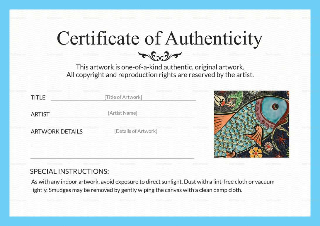 Certificate Of Authenticity Template Artwork In 2020 Art Regarding Certificate Of Authenticity Template