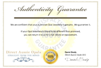 Certificate Of Authenticity Template Psd Word Artist Free pertaining to Certificate Of Authenticity Template