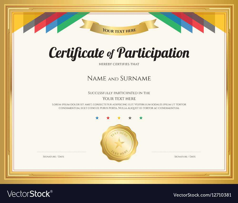 Certificate Of Participation Template With Templates For Certificates Of Participation
