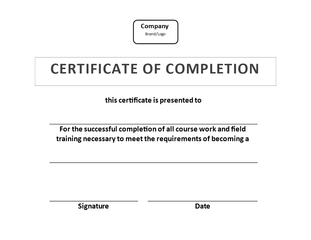 Certificate Of Training Completion Example | Templates At Regarding Free Training Completion Certificate Templates