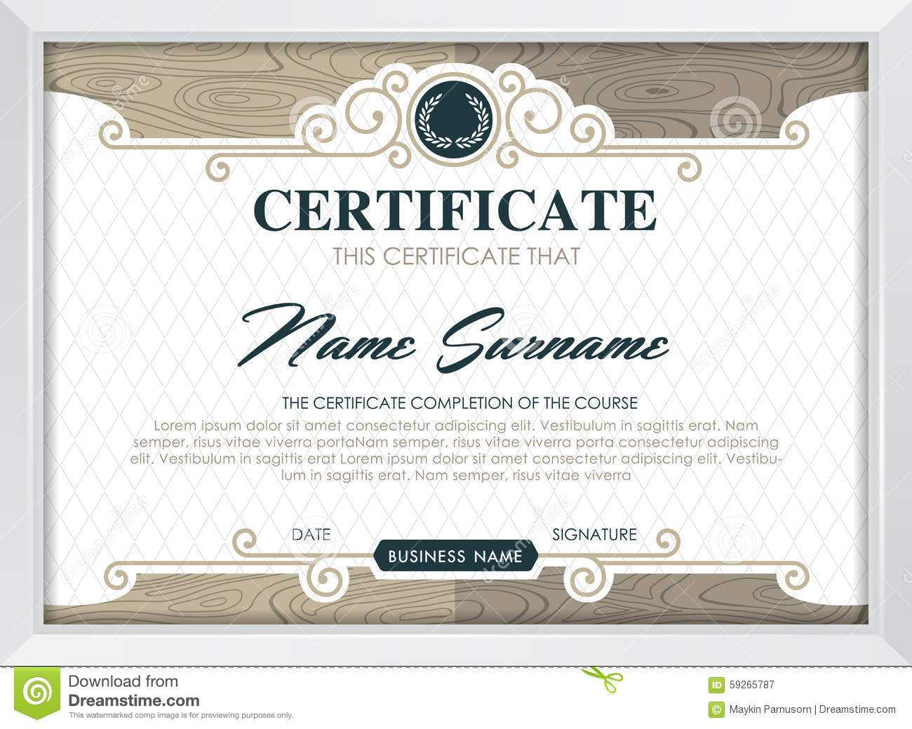 Certificate Stock Vector. Illustration Of Antique, Award Pertaining To Qualification Certificate Template