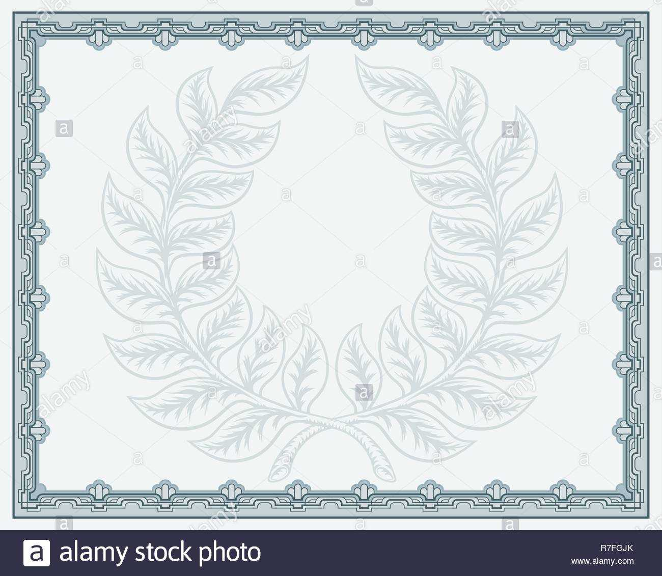 Certificate Template Diploma Background Stock Vector Art In Qualification Certificate Template