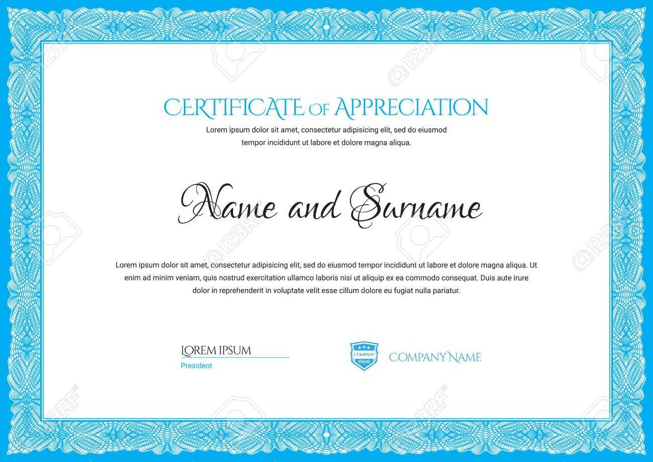 Certificate Template. Diploma Of Modern Design Or Gift Certificate With Regard To Company Gift Certificate Template