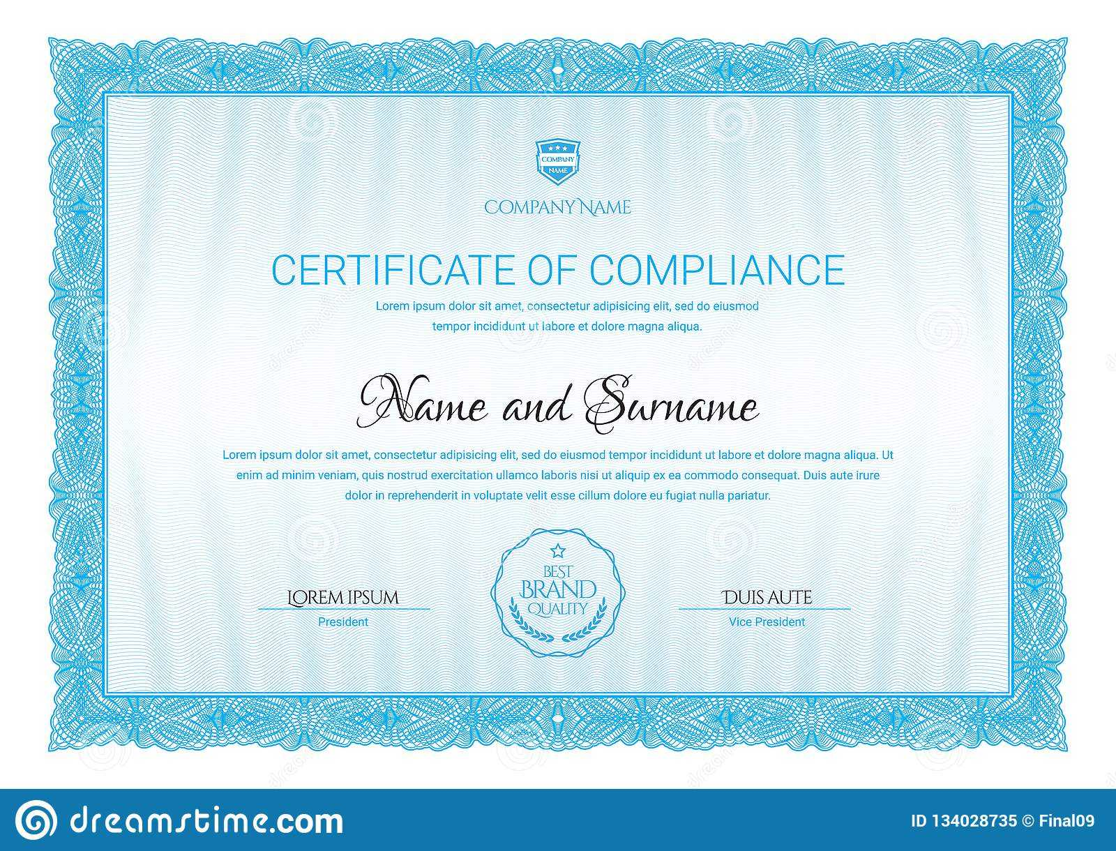 Certificate Template. Diploma Of Modern Design Or Gift Intended For Company Gift Certificate Template