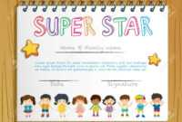 Certificate Template For Super Star Illustration with Star Certificate Templates Free
