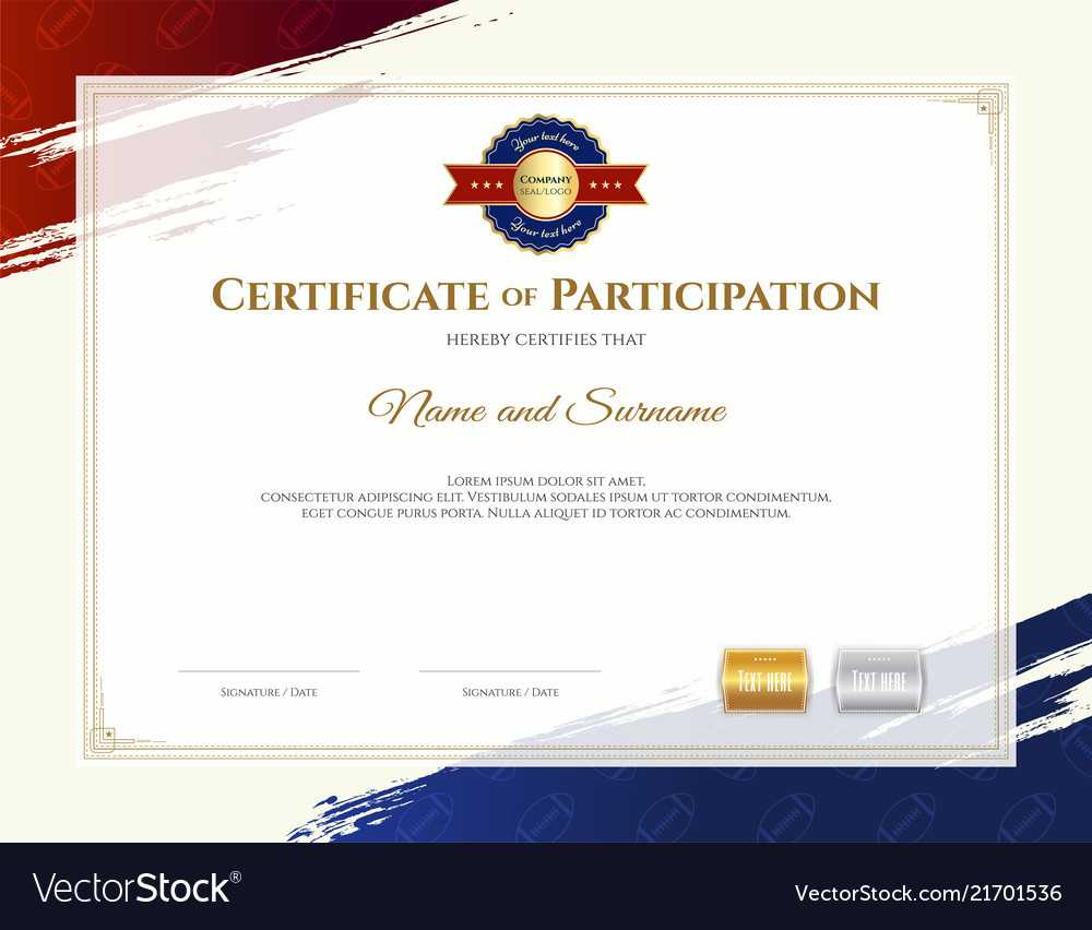 Certificate Template In Rugby Sport Theme With With Rugby League Certificate Templates