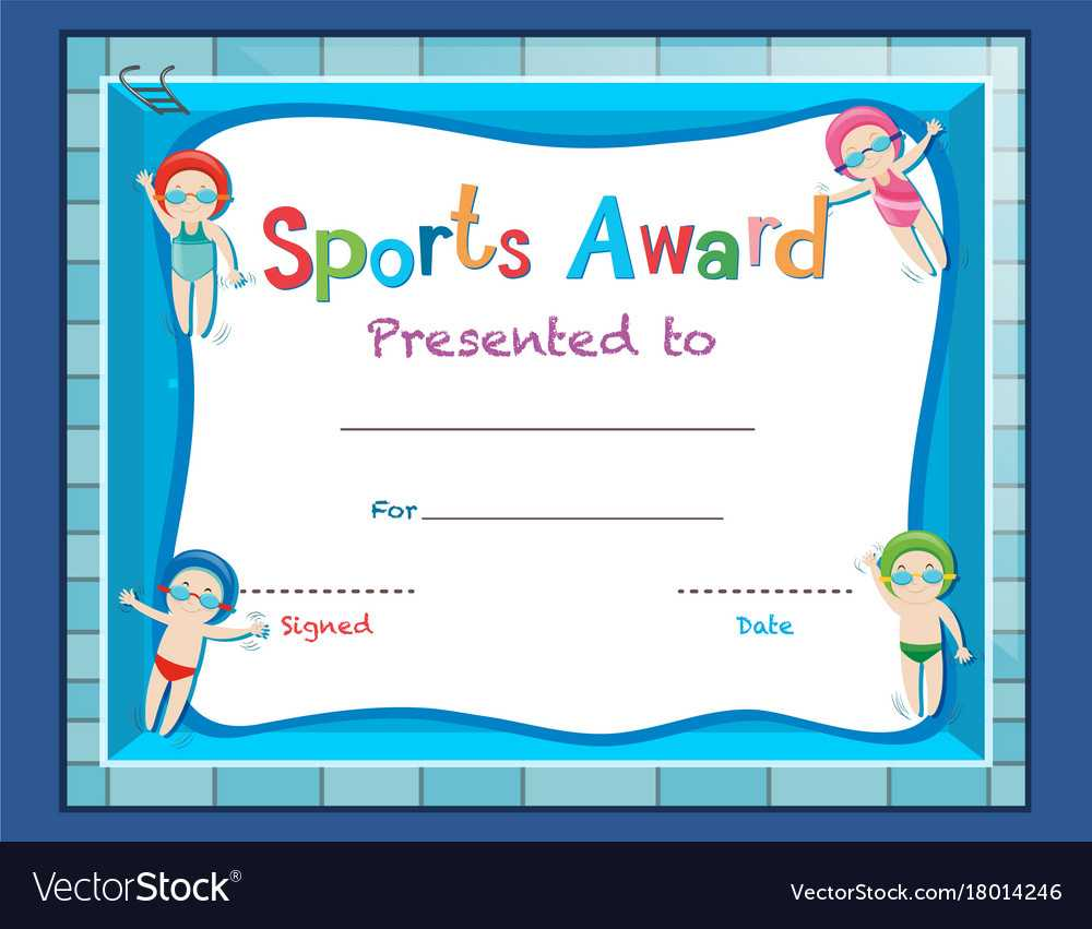 Certificate Template With Kids Swimming Pertaining To Swimming Certificate Templates Free
