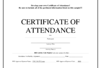 Certificates Of Attendance – Zohre.horizonconsulting.co pertaining to Boot Camp Certificate Template