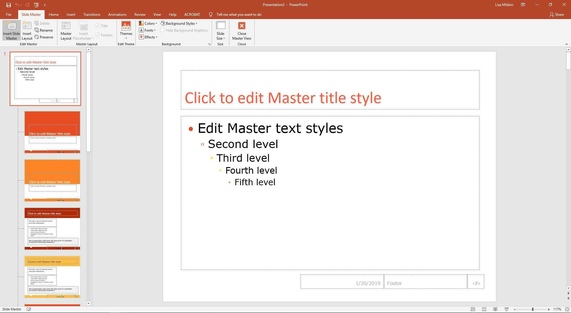 Change The Default Font In Powerpoint Text Boxes In Powerpoint Default Template