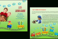 Child Care Brochure Template 16 within Daycare Brochure Template