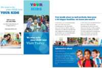 Child Care Brochure Template 4 with Daycare Brochure Template