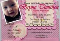 Christening Invitation : Christening Invitation Template for Baptism Invitation Card Template
