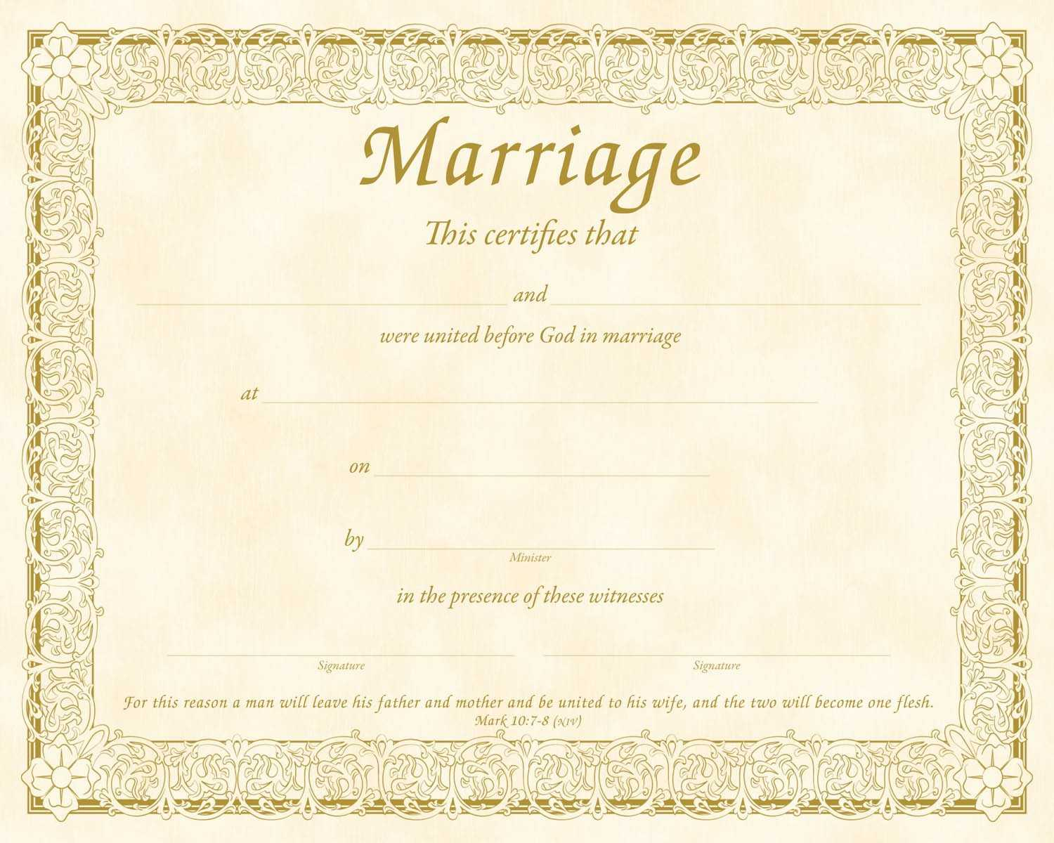 Christian Certificate Template ] - Christian Marriage With Regard To Christian Certificate Template
