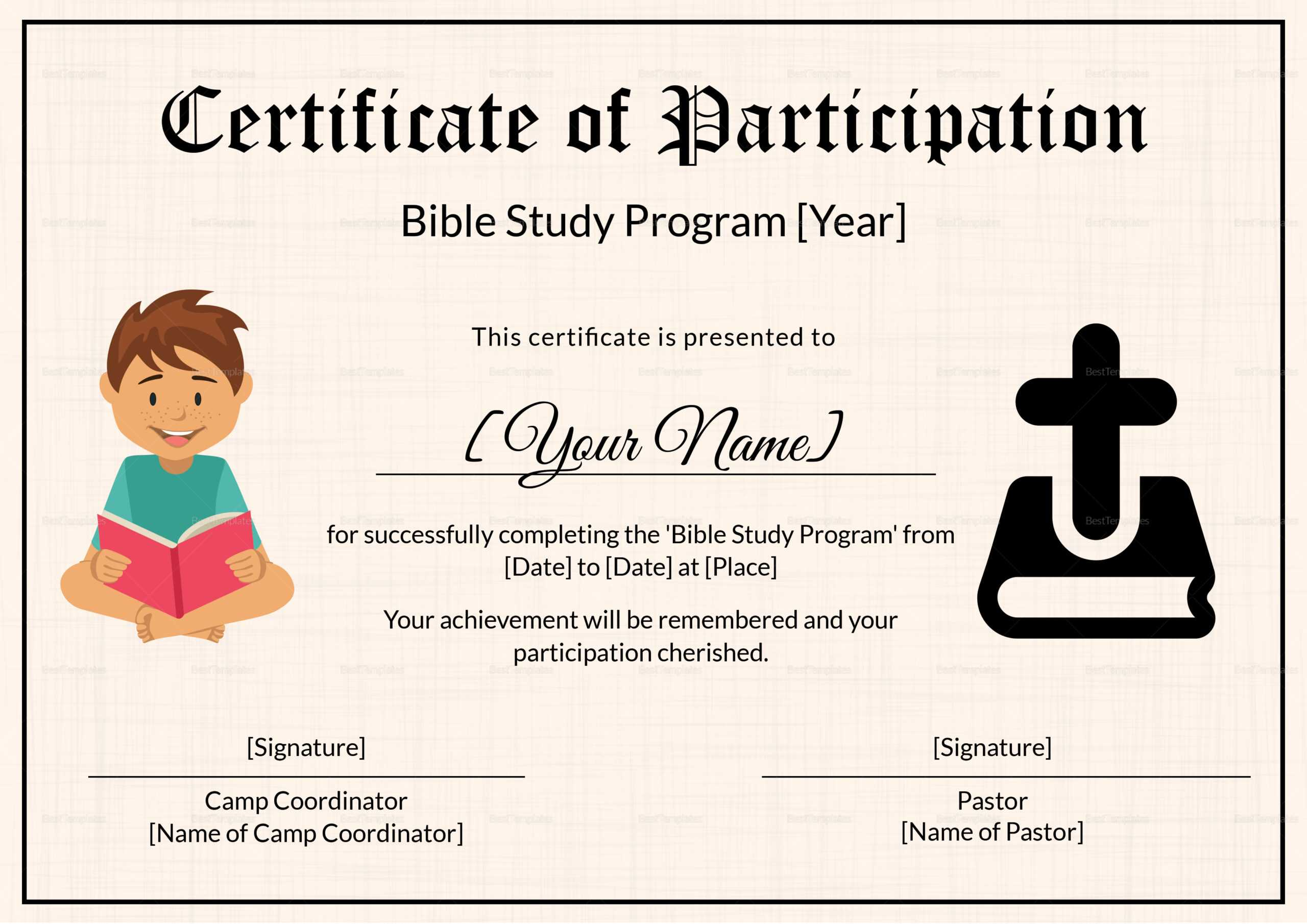 Christian Certificate Templates - Zohre.horizonconsulting.co With Regard To Christian Certificate Template