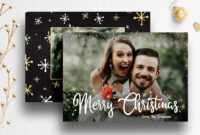 Christmas Card Photoshop Template For Photog | 007 throughout Christmas Photo Card Templates Photoshop