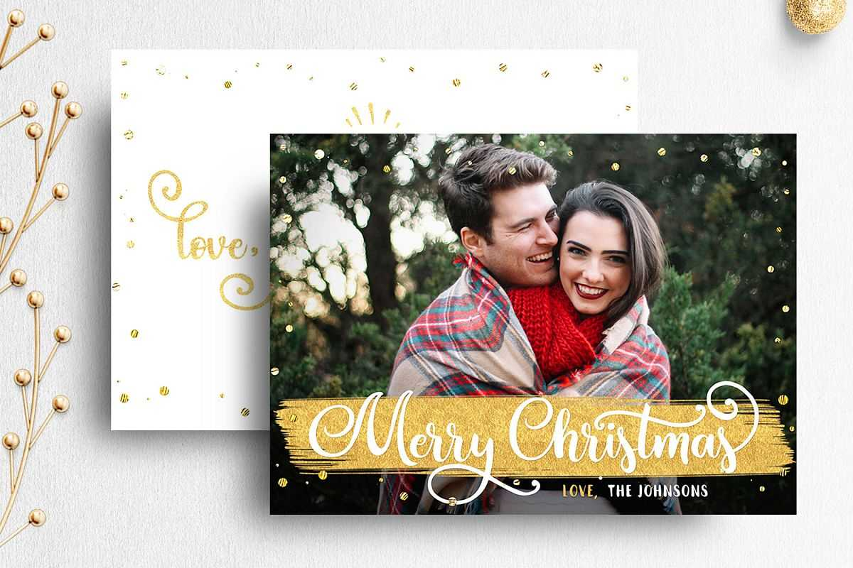 Christmas Card Template For Photographer | 007 For Holiday Card Templates For Photographers