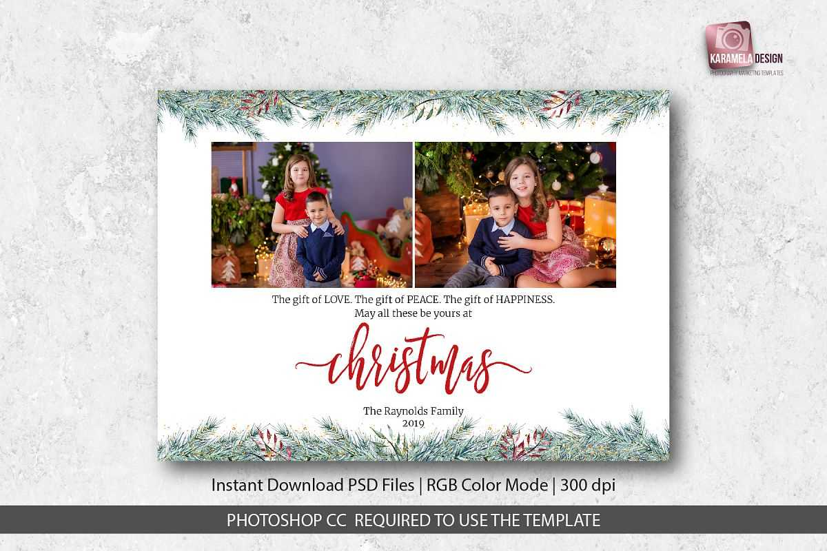 Christmas Card Template For Photographers For Holiday Card Templates For Photographers