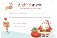 Christmas Gift Certificate – Download A Free Personalized in Custom Gift Certificate Template